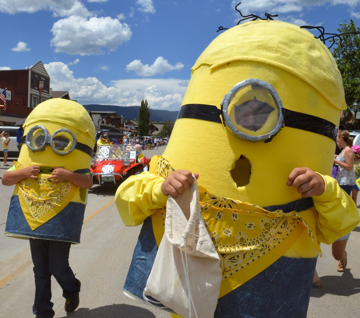 Munn Architecture's Munnions, a riff on the Minions from the popular movie Despicable Me, were handing out candy to youngsters during the parade.