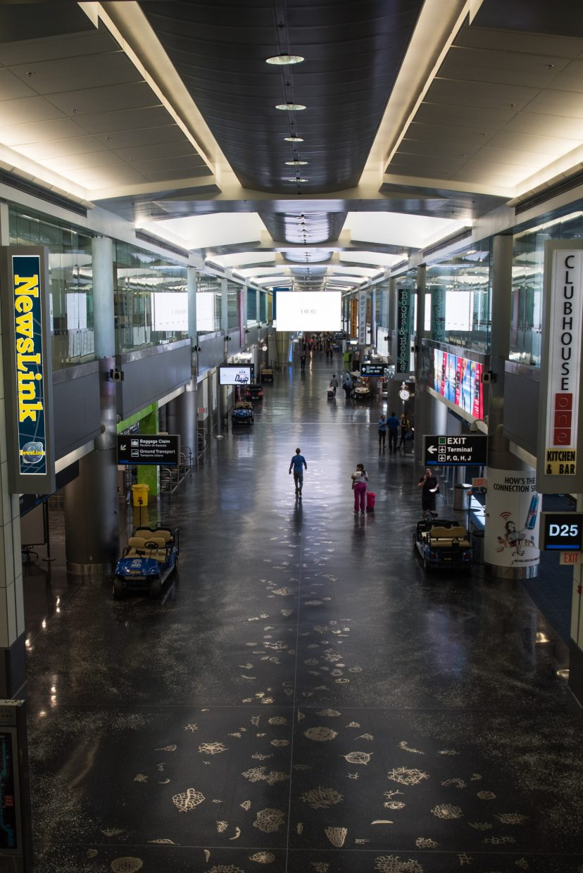 Miami International Airport looks like a ghost town. (Photo by Tyler Tomasello)