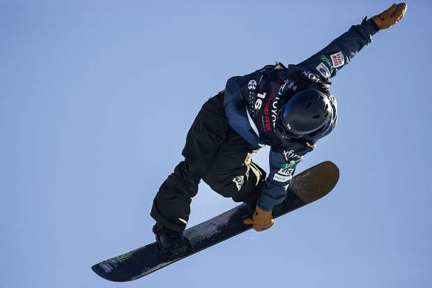 Ayumu Hirano of Japan competes in the halfpipe finals during the U.S. Grand Prix event Saturday, Dec. 9, at Copper Mountain. Hirano took home first with a high score of 95.25.