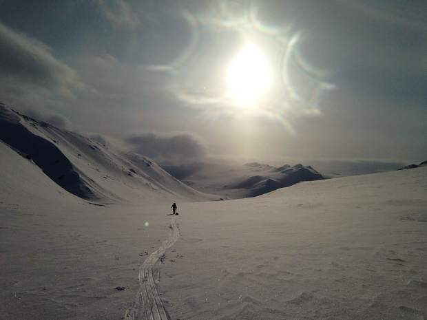 Callie Morgigno of Leadville took this photo of Charlie Walker skiing at an unknown location in the Ural Mountains in Russia.
