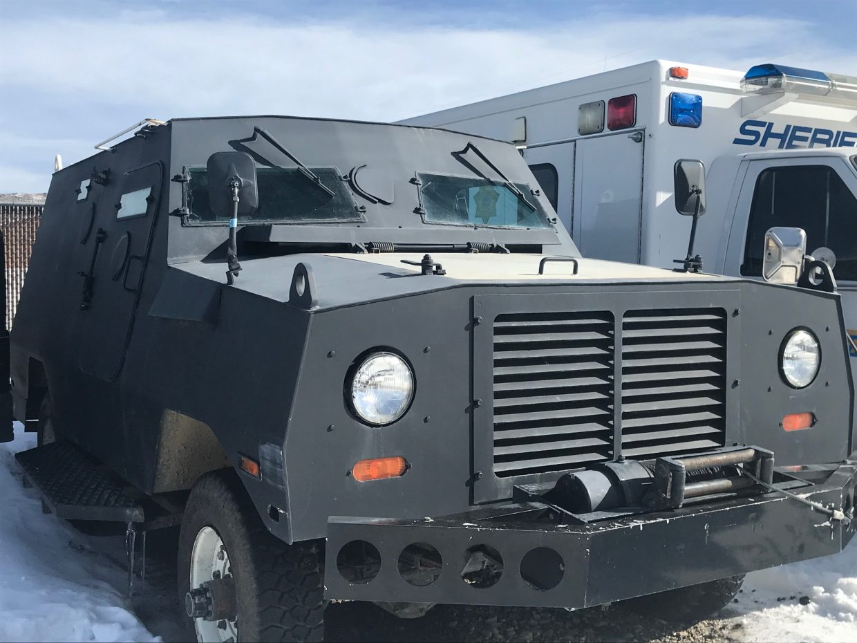Grand County's Peacekeeper armored vehicle. Photo by Emma Simmins / Sky-Hi News