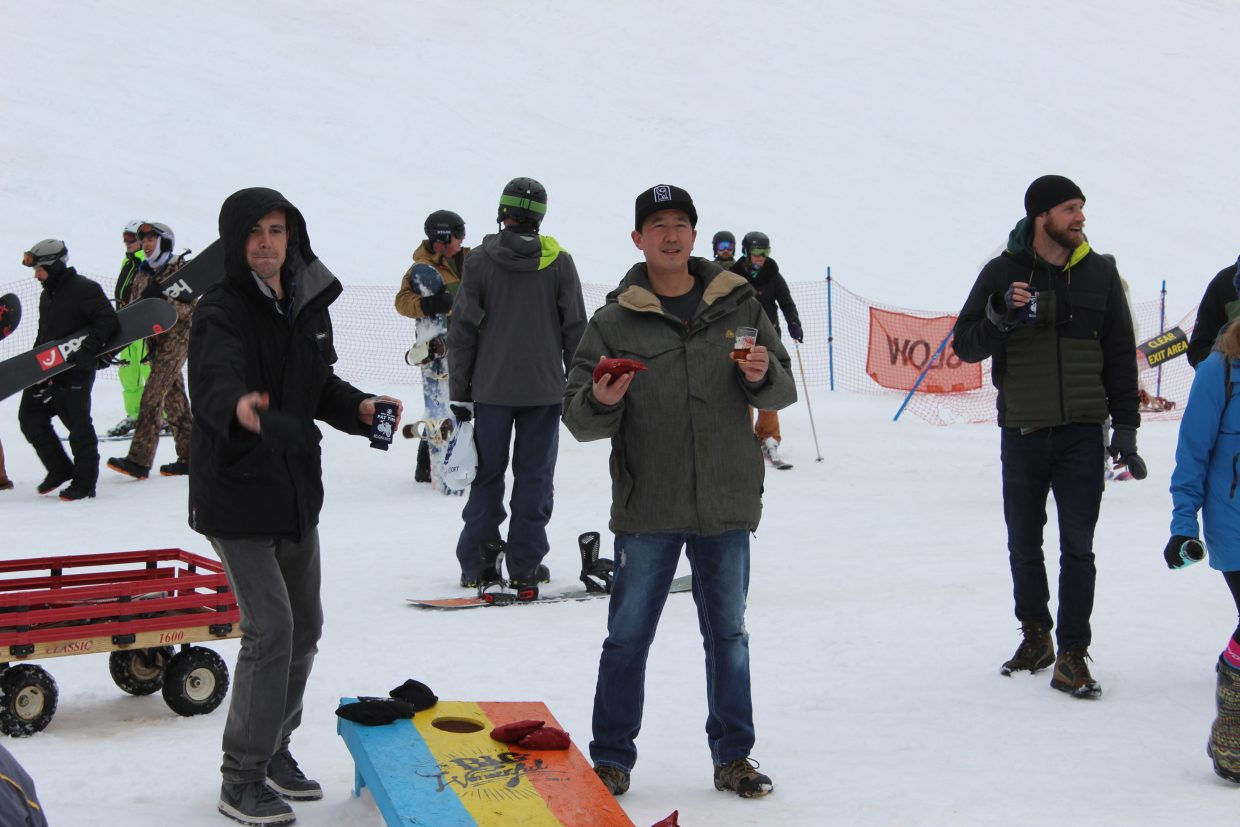 The festival was more than just beer, as guests enjoyed playing cornhole, skiing, listening to music and much more.