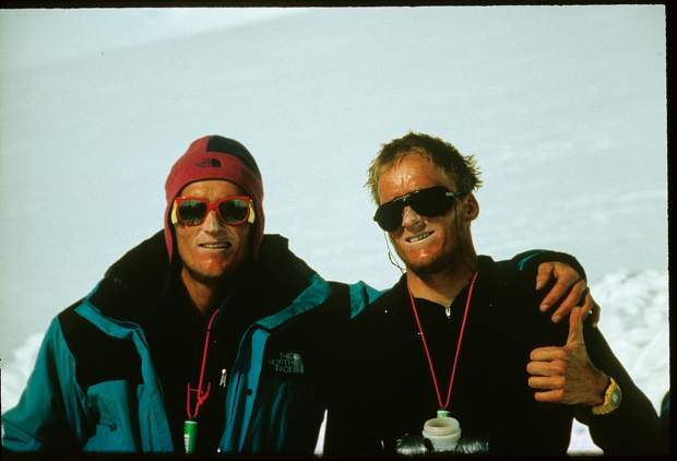 Steve and Mike Marolt take a break on Mount Logan in 1991. The twin brothers from Aspen will be inducted into the U.S. Ski and Snowboard Hall of Fame on Saturday.