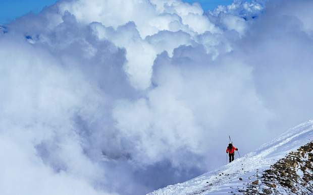 Mike Marolt makes his way up Pico de Orizaba, the highest mountain in Mexico and third highest in North America.