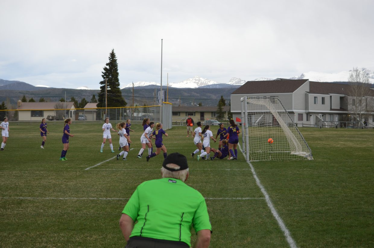 Junior Caitlin Davis puts in the Panthers first goal.