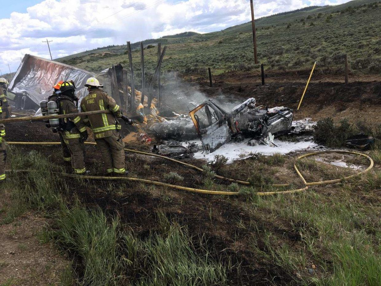 Updated: Major car wreck on Highway 40 near Kremmling causes fire