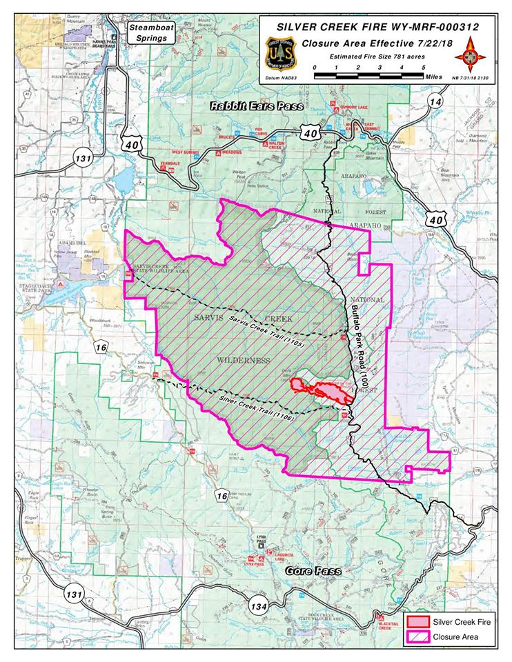 Silver Springs Colorado Map Silver Creek Fire originating in Routt County moves into Grand