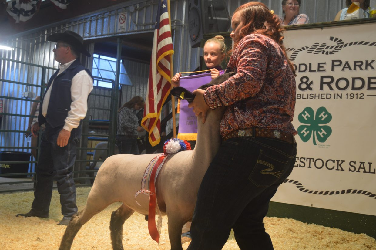 The grand champion sheep was sold for $1,500. Sixteen other sheep were sold for a total of almost $16,000.