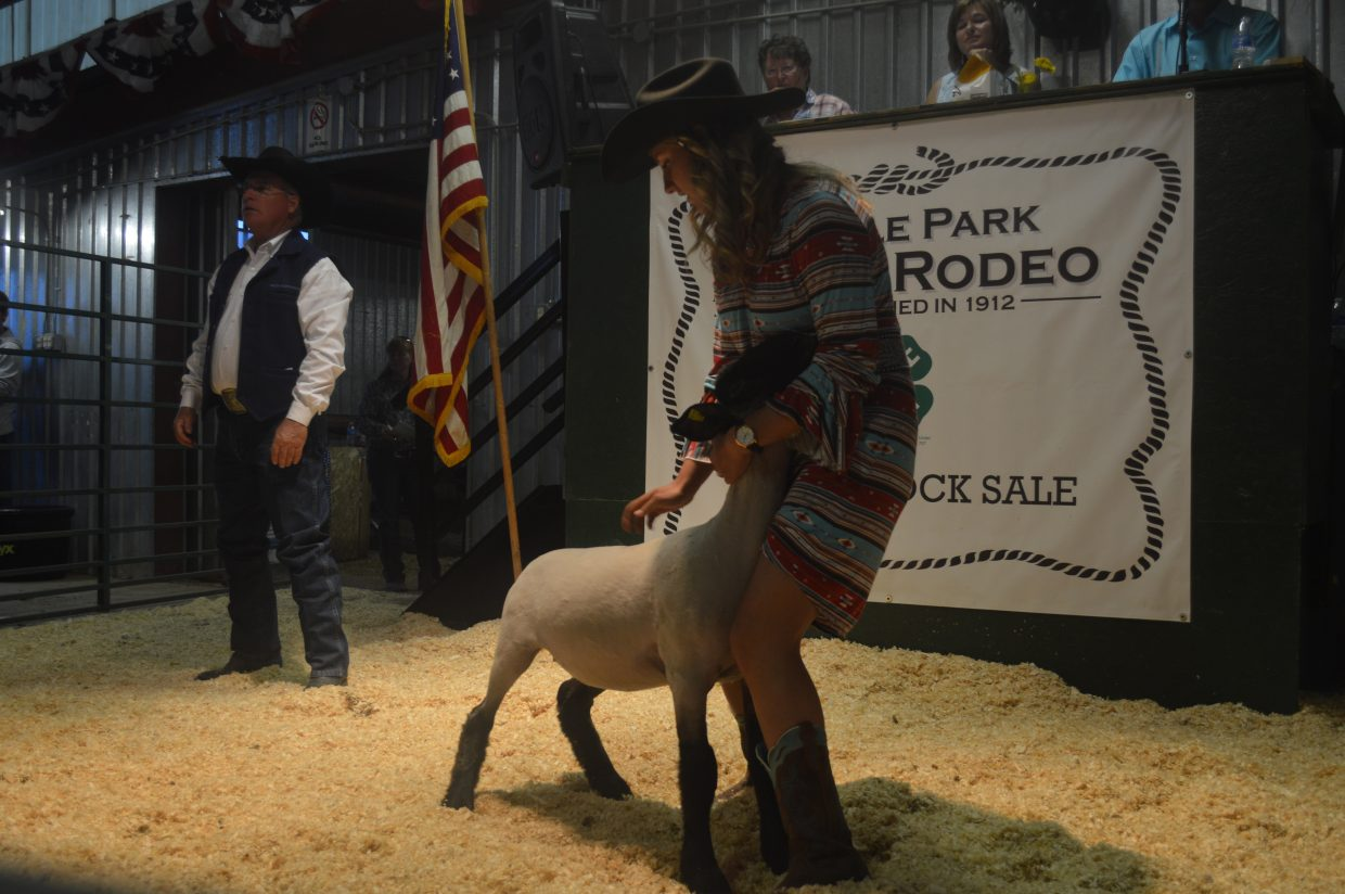 Grace Johnson, from Granby, is this year's Middle Park Fair and Rodeo Queen. She showed sheep.