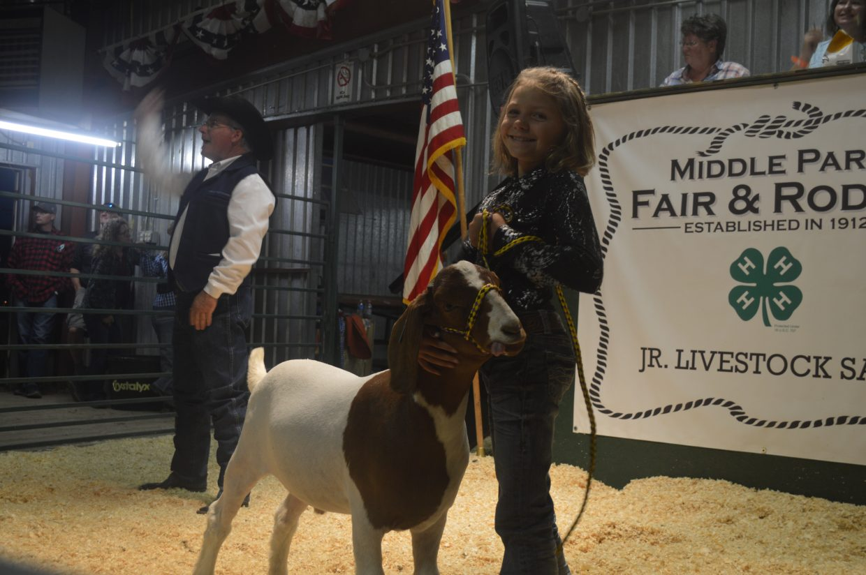 Fourteen goats were sold at the auction, raising over $10,000 for the 4-H members who raised them. The highest bid on any of the goats showed was $1,400.