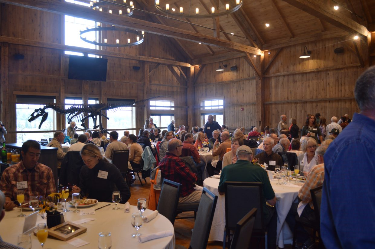 This year's event was different from previous years because it wasn't held at a historic site, but at the Headwaters Center in Fraser. About 240 guests attended.