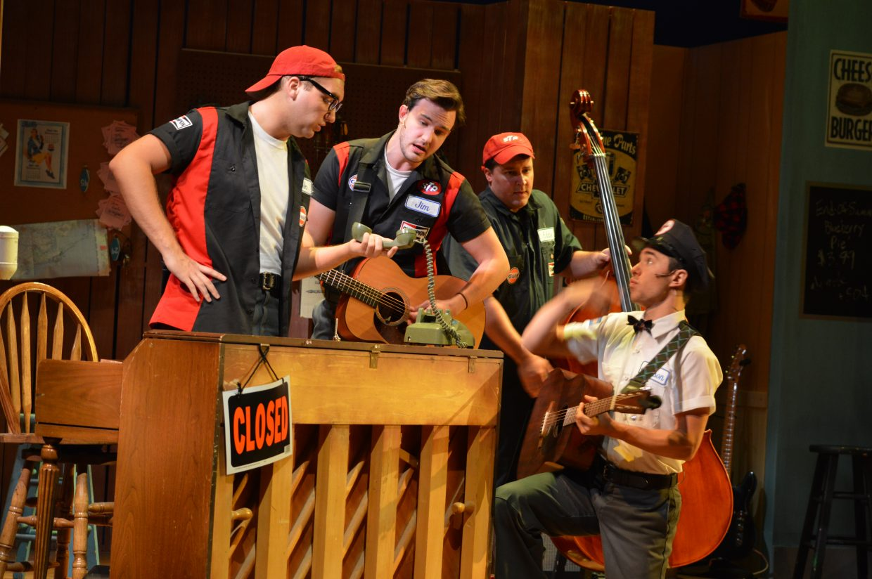 From left: Ethan Ray Parker as L.M.; Conor Finnerty-Esmonde as Jim; Todd Hale as Eddie; P. Tucker Worley as Jackson.