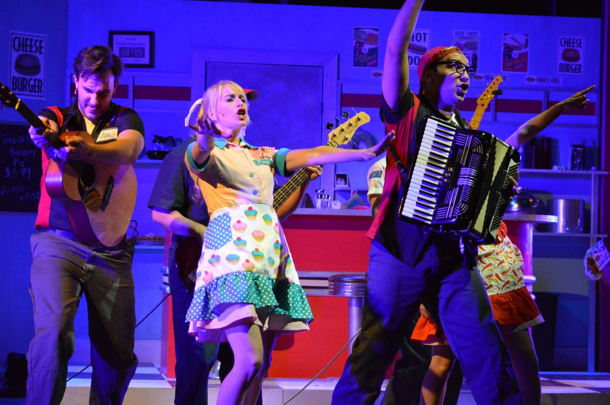 The cast performs Drinkin' Shoes, which features a fun tap routine that was a highlight of the show.