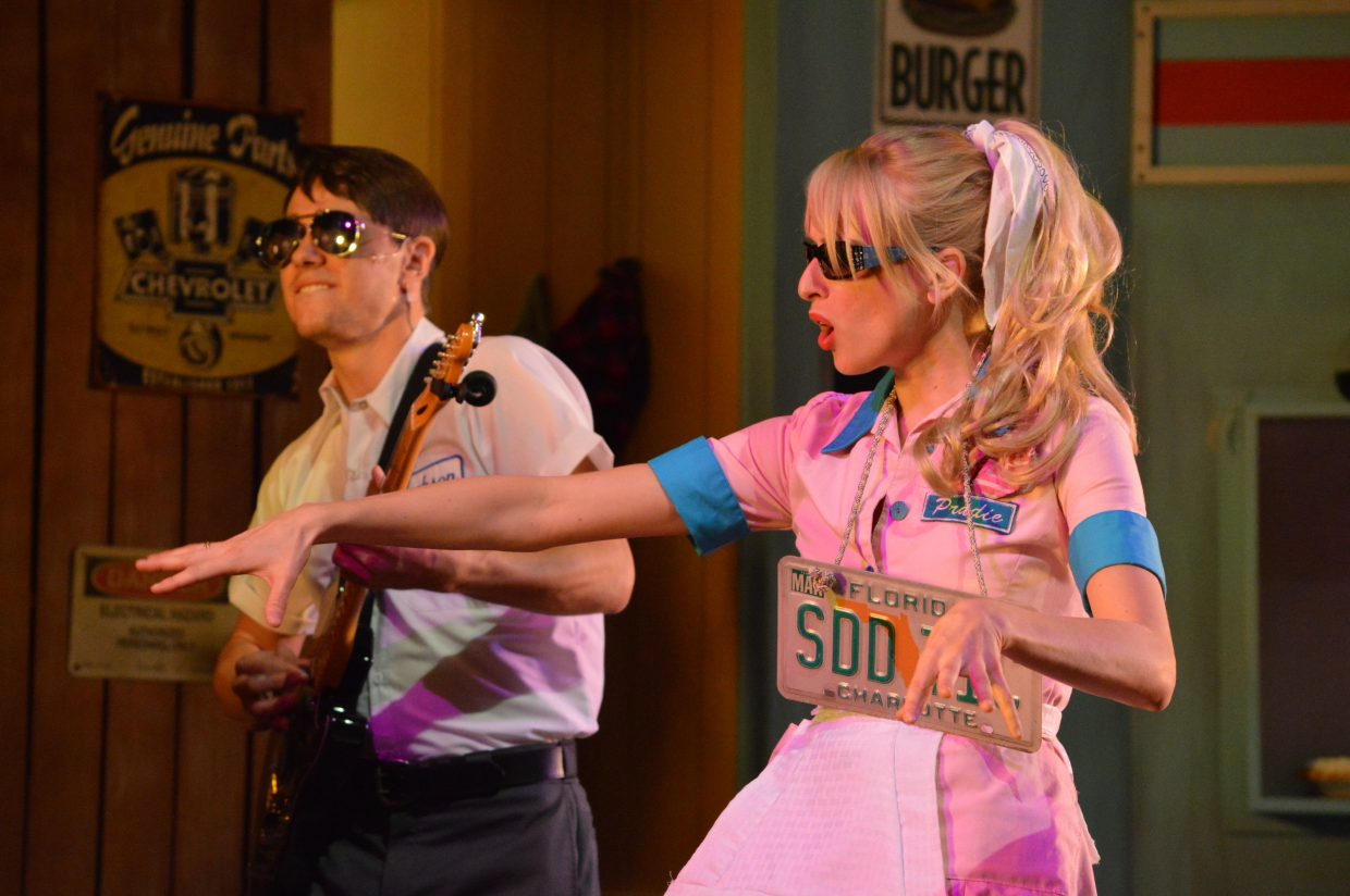 Prudie and Jackson get their groove on during the song Vacation.
