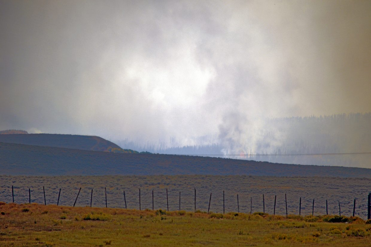 The Silver Creek Fire on Friday, Sept. 14, looking from the north.