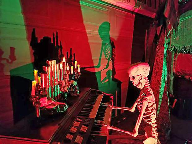 Dave Spargo, 55, said he learned about the importance of lighting during his time in bands and focuses a lot of attention on the lighting aspect of his haunted scenes to help set the mood.