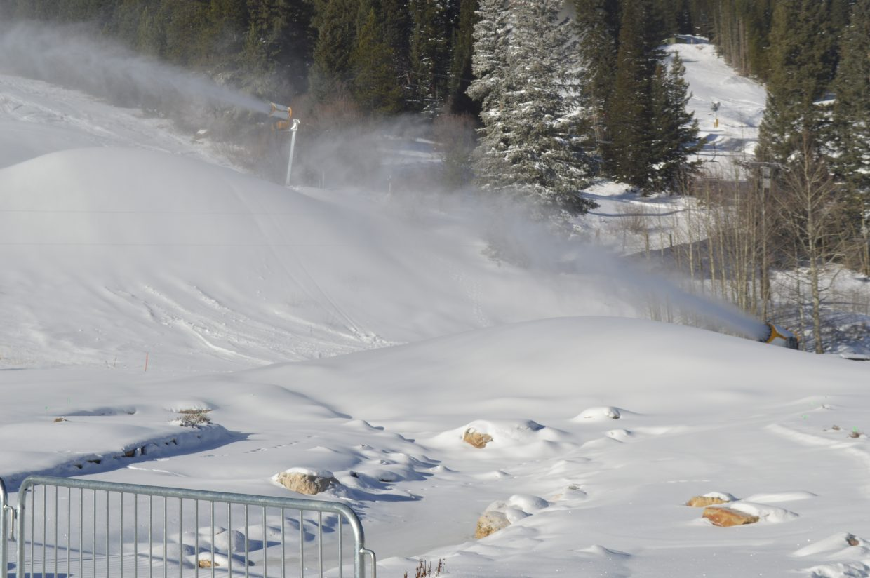 For opening day, Winter Park Resort fired up their new $4 million snowmaking system.