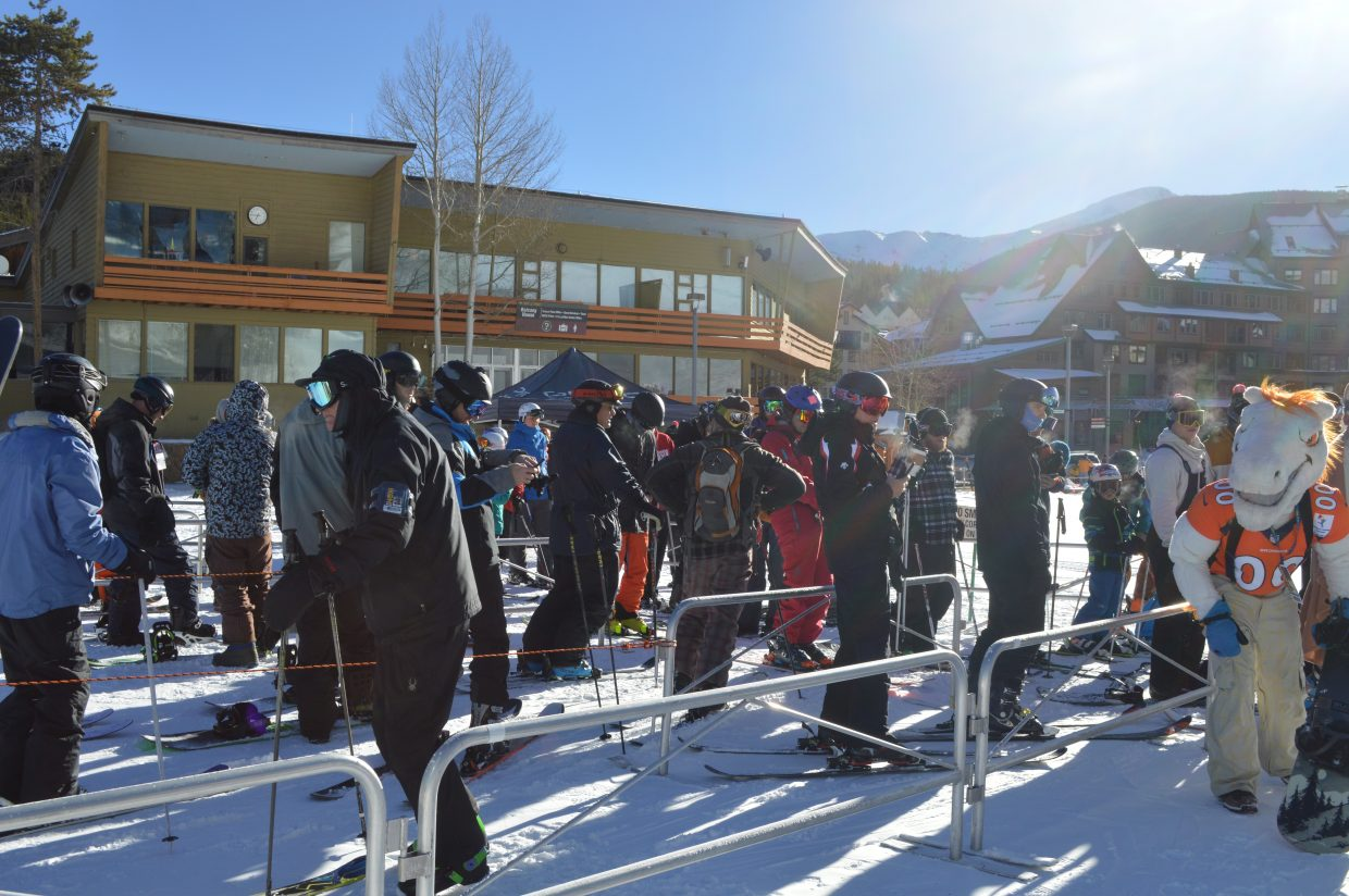 For the first day of the season at Winter Park Resort, skiers and riders came from all over the country.