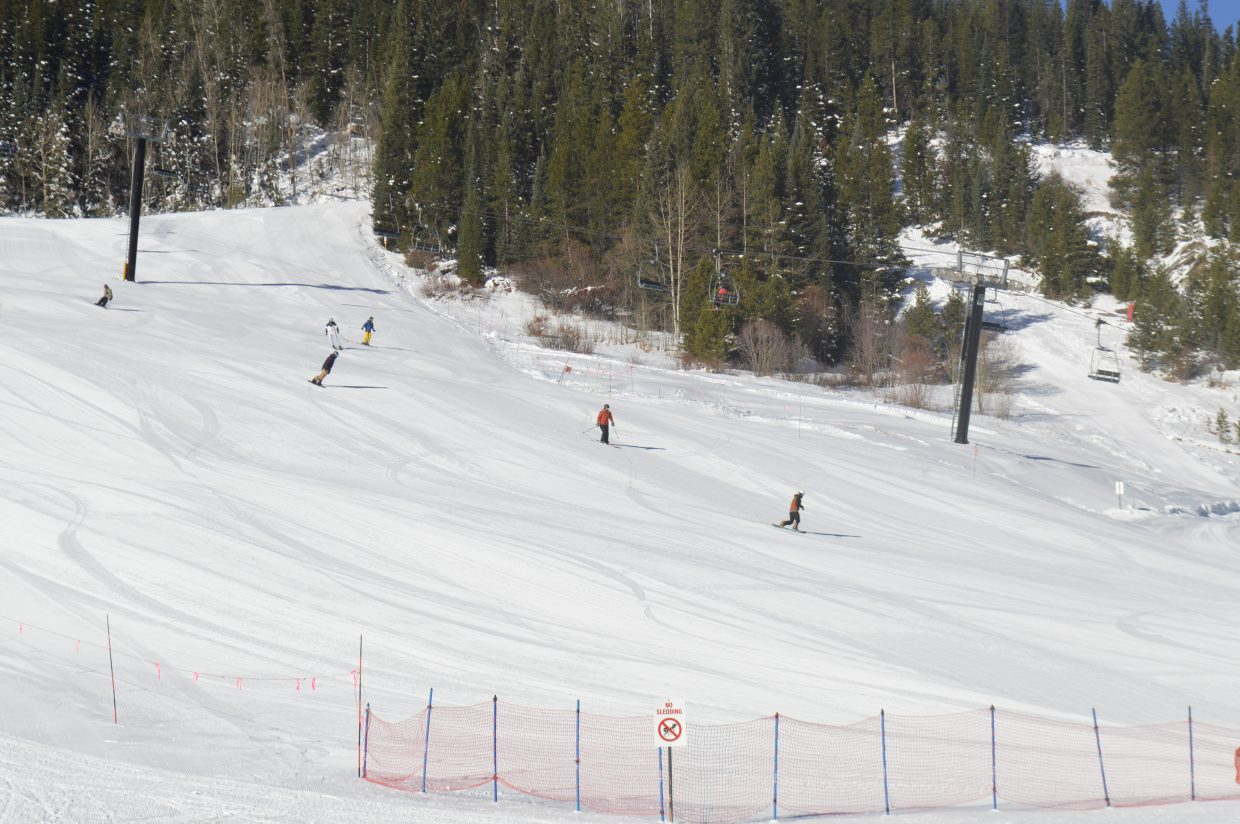Winter Park Resort had 55 acres of terrain open for skiers and riders, including 5 lifts and 8 trails.