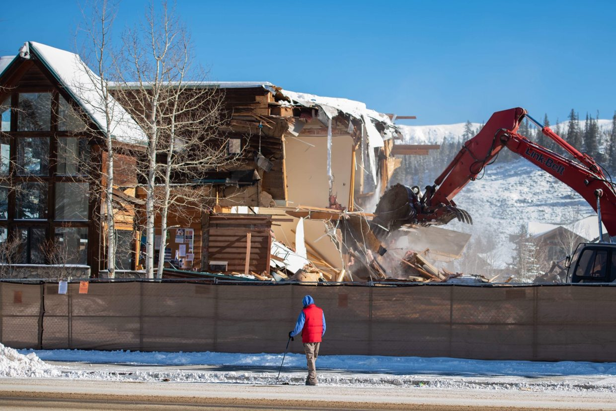 Today, the former Winter Park Fraser Chamber of Commerce and Visitor's Center was demolished to make room for the new Rendezvous Center.