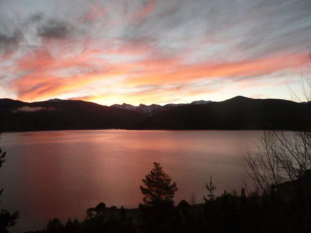 Oct. 22: Another beautiful sunrise this morning over Lake Granby. By Penny Hamilton