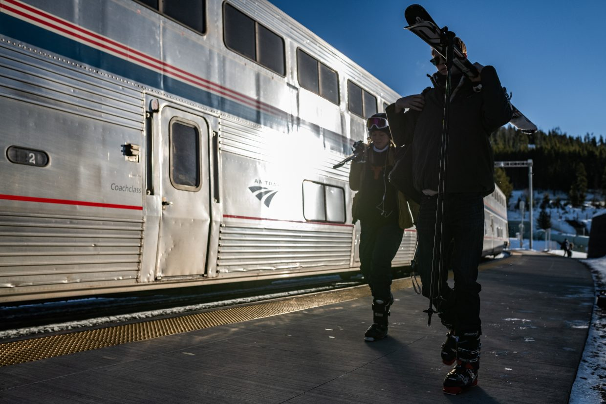 Excitement was in the air as the Winter Park Express made its first trip this weekend.