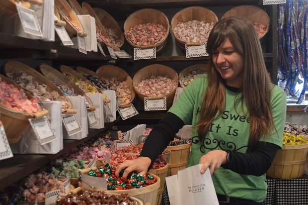 Owner Megan Luther grew up working in a candy shop and now is fulfilling her dream to own a store of her own.