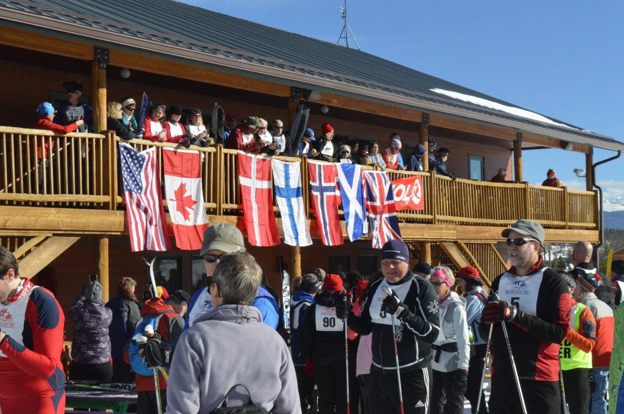 Ski for Light is an international event and this year saw participants from seven countries. All of the countries represented had their flags hung and national anthems played before the finale race.