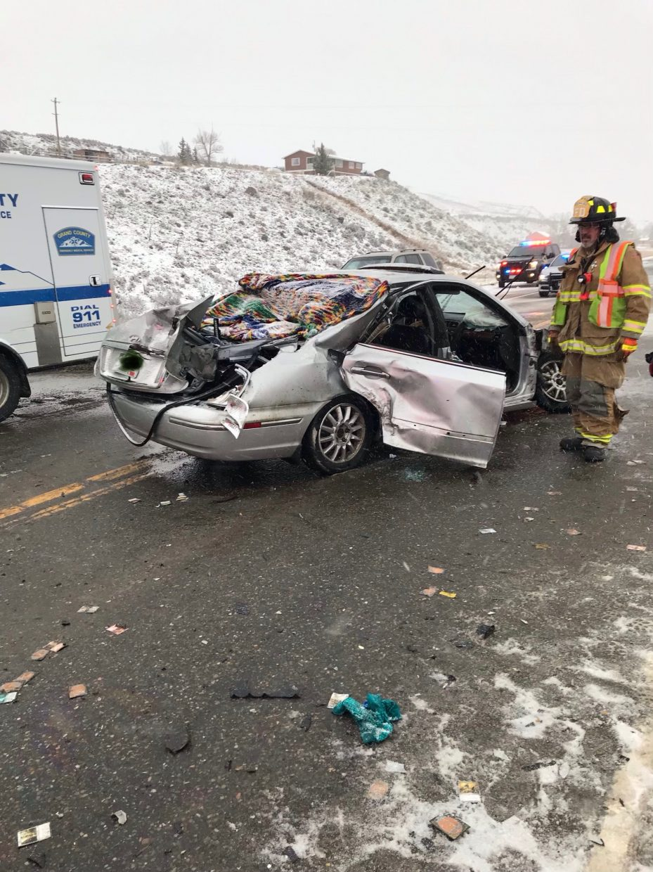 2 vehicle crash on US 40 near Parshall results in multiple injuries