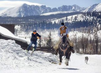 Local ranch family, non-skiing ranch hand find passion for skijoring at Ute Pass ranch