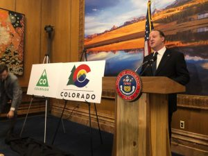 Governor unveils new Colorado logo