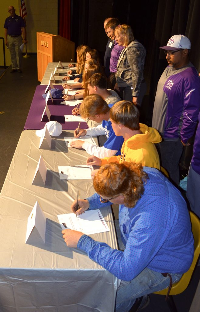 Middle Park High School holds signing ceremony for future college athletes