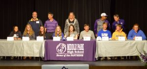 9 Middle Park seniors sign with 8 different schools to play college sports
