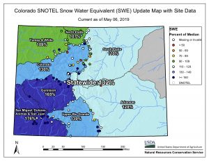 Grand County's May snowpack holds strong at 131 percent of average