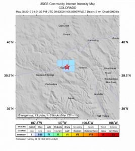 Earthquake rattles lower Eagle Valley