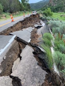 Rifle Falls State Park and hatchery inaccessible due to road collapse on Highway 325