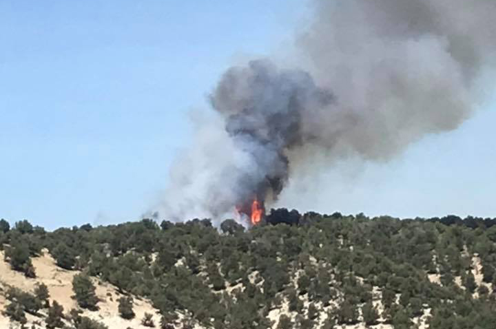 Shed Fire continues burning in Rio Blanco County