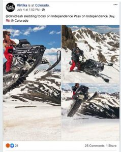 Alleged offender in  Independence Pass snowmobiling incident posted pictures on Facebook