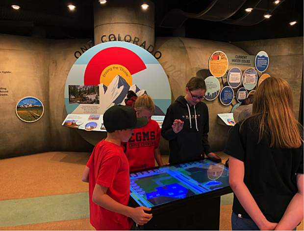 Students from East Grand Middle School went on an annual Watershed Field trip last week and toured the new museum at the Headwaters Center in Winter Park.