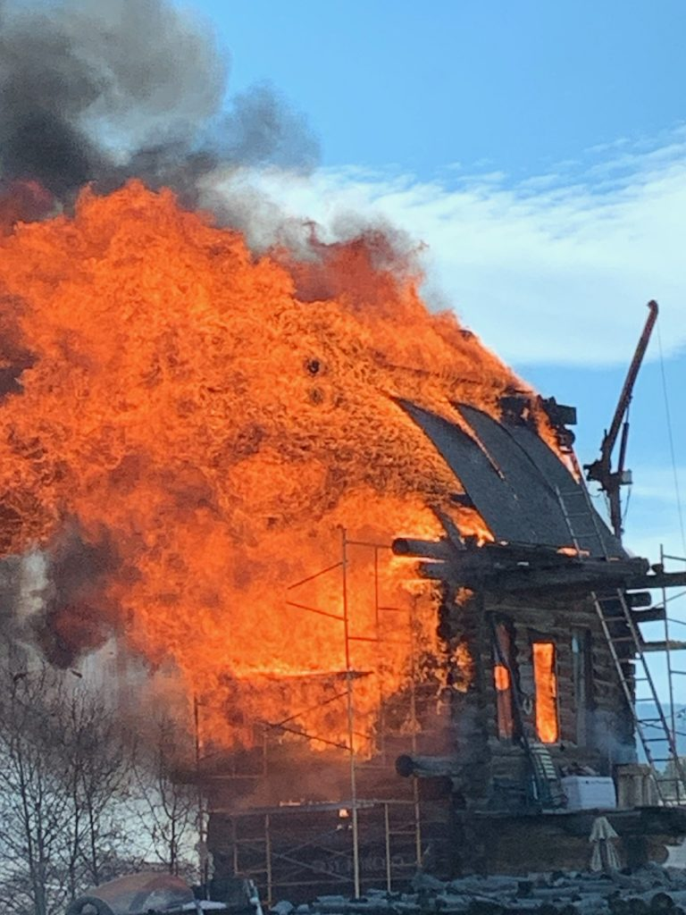 A structure fire broke out in Tabernash around 1 p.m.