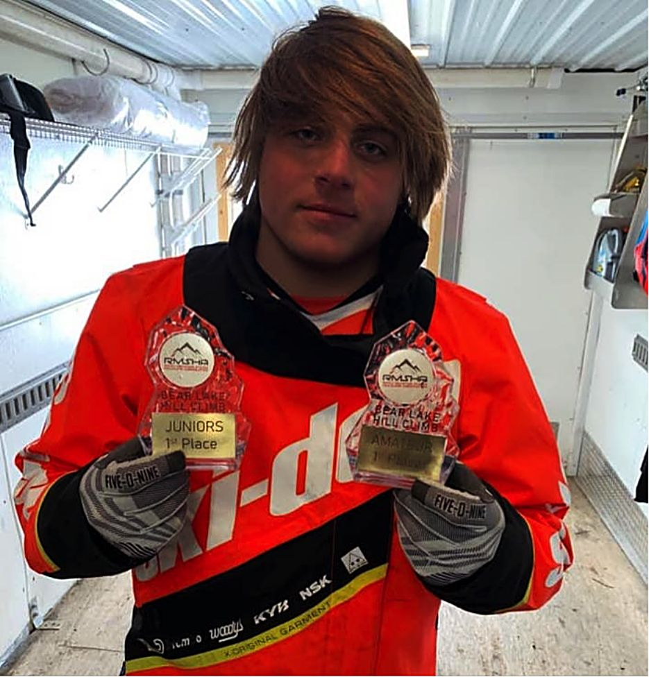 MPHS student Cameron Conger took two first place honors at the Bear Lake Snowmobile Hill Climb. With the wins, he has moved up to semi-pro.
