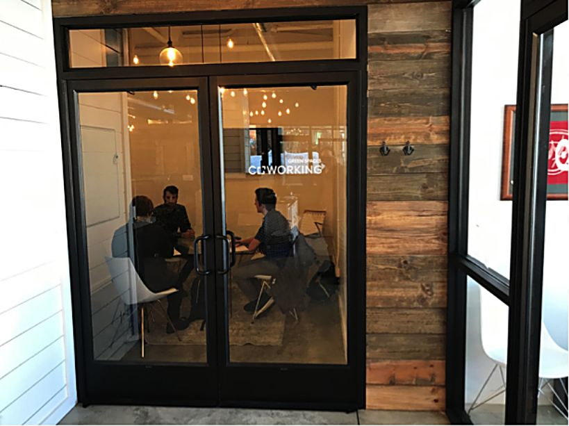 Students from East and West Grand schools work with local entrepreneurs and remote workers at Green Spaces CoWorking in Winter Park.