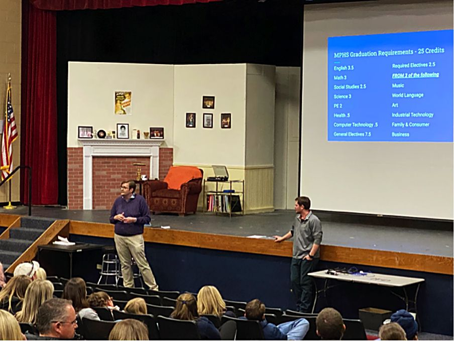 MPHS plays host to eighth-graders and their parents on Wednesday for high school orientation.