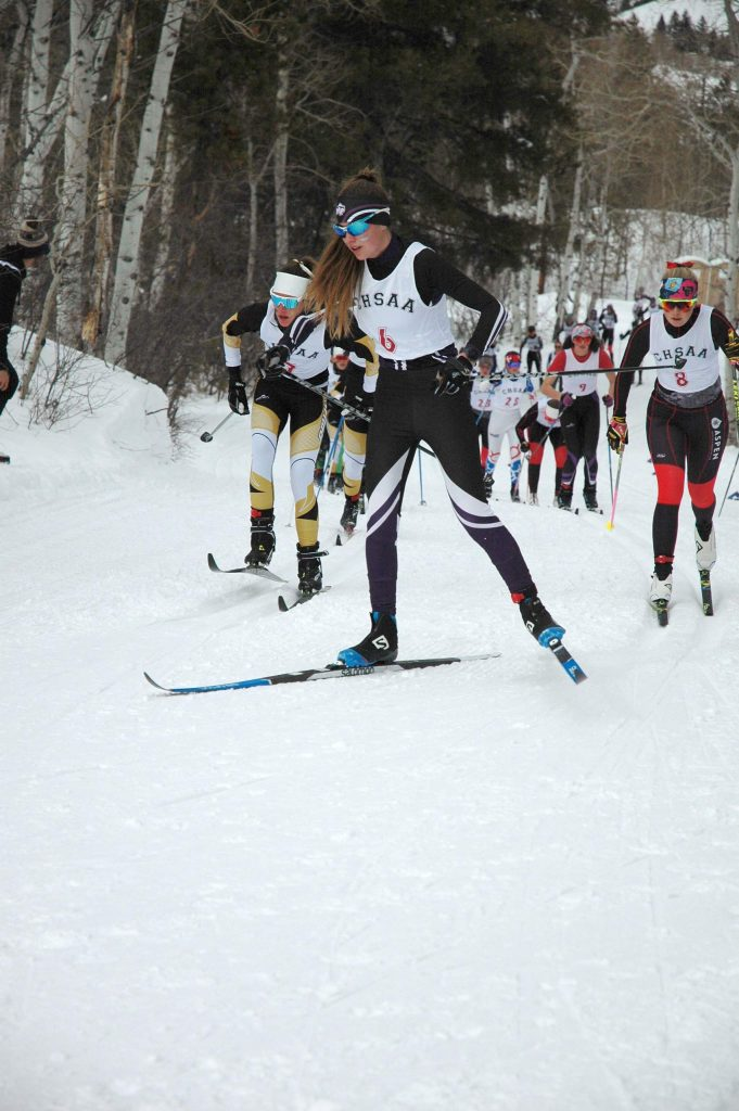 Middle Park freshman Sylvia Brower finished third in the classic race during the state championships last week in Minturn.