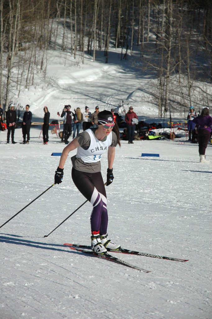 Middle Park's Elizabeth Hammond competes at the Colorado High School Ski Association State Meet in Minturn.