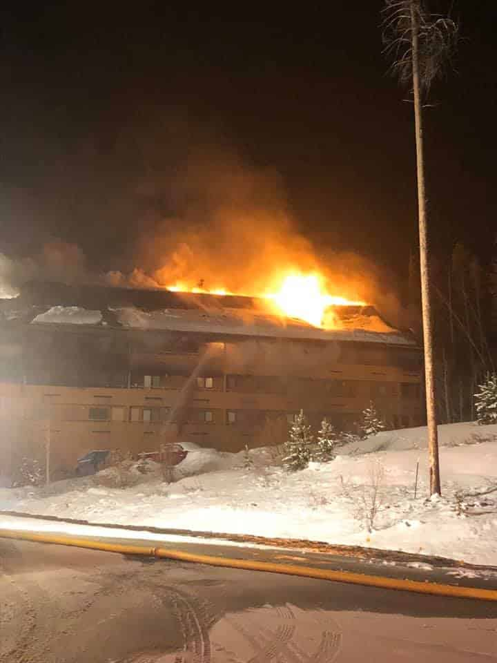 A fire broke out at the Braidwood Condominiums in Winter Park around 3 a.m. Monday.