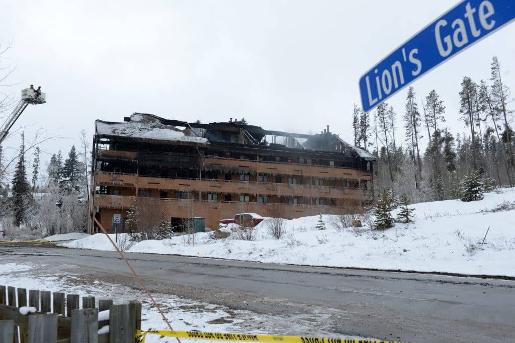 A fire burned the Braidwood Condominiums in Winter Park early Monday morning.