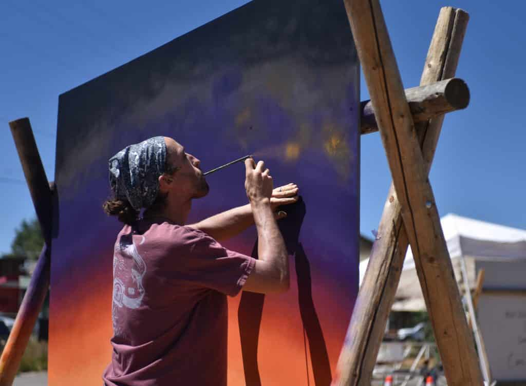 Artists Take Brushes Spray Paint To Canvas For Fraser Mountain Mural Walk Skyhinews Com