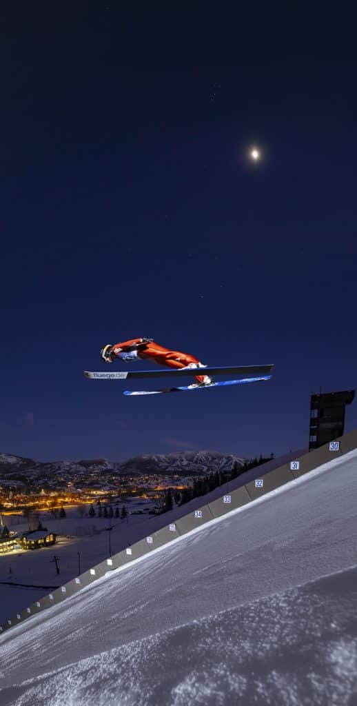 SOSI commissioned Noah Wetzel, a local award winning photographer, to take a picture of local ski jumper Annika Belshaw soaring through the air off the Howelsen ski jump at night. This picture will be 30 feet tall and will be seen as you walk up the staircase into the SOSI office.