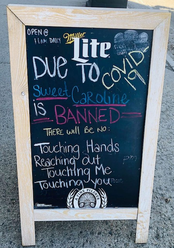 This was taken Sept. 1 at the Brickhouse 40 restaurant in Granby. Thank you for the creative humor!